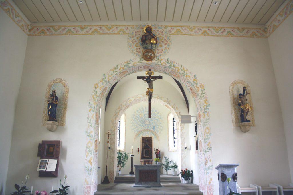 Ausmalung von St.Sebastian in Triberg.