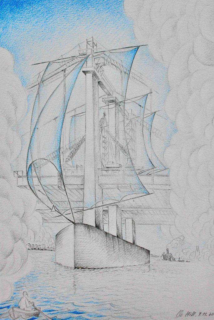 Zeichnung Brücke