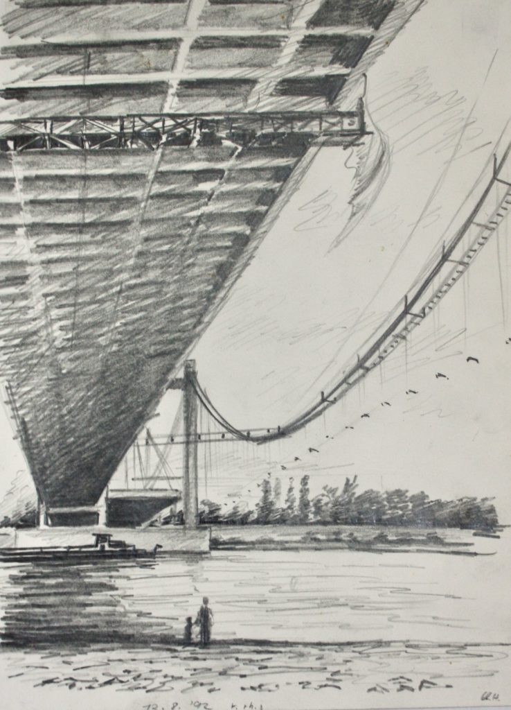 Zeichnung, Brücke