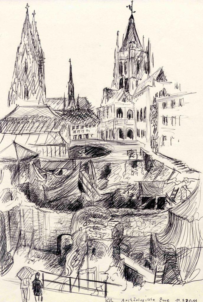 Zeichnung Archäologische Zone